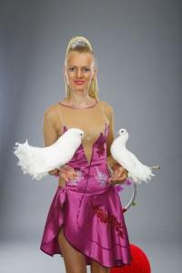 шоу с голубями на свадьбу  1