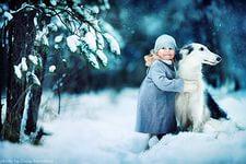 фотосессия детей с животными
